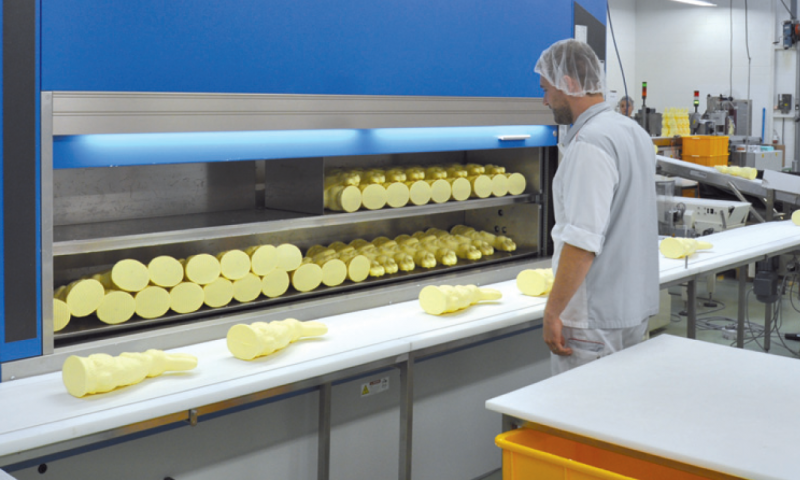 Warehouse production confectionery in wrapping and packaging