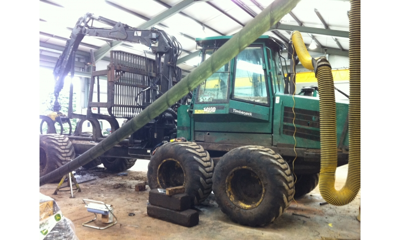 John Deere Forestry in Wicklow install Kardex in Spare Parts